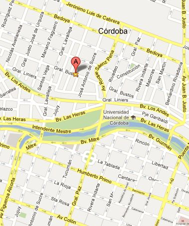 Barrio cofico cordoba capital mapa for Jardin 50 neuquen