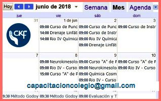 Calendario Capacitación 2019